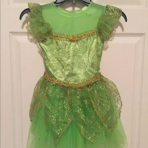 Girls green fairy princess dress costume dress up
